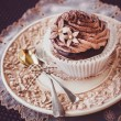 Stock Photo: Chocolate cupcake