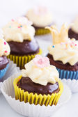 Princess cupcakes — Stock Photo
