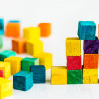 Colorful wooden building blocks — Stock Photo #44297805