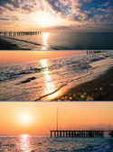 Beach and sunset — Stock Photo
