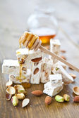 French nougat with honey — Stock Photo