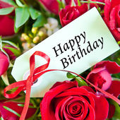Red roses for Birthday — Stock Photo
