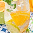 Stock Photo: Fresh drink with lemons and ice
