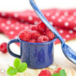 Stock Photo: Fresh ripe red berries