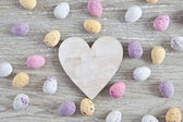 Easter background with easter eggs — Stock Photo
