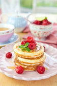 Pancakes with fresh berries — Stock Photo