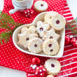 Royalty-Free Stock Photo: Jam-filled christmas cookies
