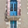 Stock Photo: Oldfashioned window with balcony