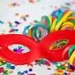 Colorful party props — Stock Photo