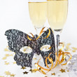 Stock Photo: Two glasses with champagne