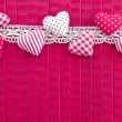 PInk background with little hearts — Stock Photo