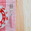 Plates with christmas pattern — Stock Photo