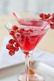 Kalten cocktail mit roten johannisbeeren — Stockfoto