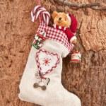 Little gift bag for christmas — Stock Photo