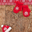 Stock Photo: Rustic background for christmas