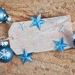Gift tag with decorations — Stockfoto