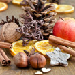 Winter spices for christmas — Stock Photo