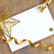 Gift tag for christmas — Stock Photo