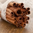 Cinnamon sticks rolled in a bundle — Stock Photo