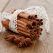 Stock Photo: Cinnamon sticks rolled in bundle