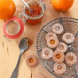 Jam-filled cookies — Stock Photo