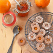 Stock Photo: Jam-filled cookies