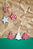 Arbolitos de navidad en papel — Foto de Stock