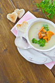 Sopa cremosa de cogumelo — Fotografia Stock