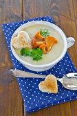 Sopa cremosa de champiñones — Foto de Stock