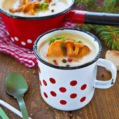 Kremalı mantar çorbası — Stok fotoğraf
