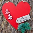 Rustic background with christmas decorations — Stock Photo