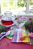 Tea with fresh elder berries — Stockfoto