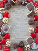 Variety of chocolates — Stock Photo