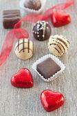 Variety of chocolates — Stock Photo