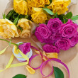 Stock Photo: Fresh colorful roses