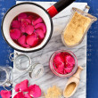 Homemade rose jelly — Stock Photo