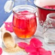 Stock Photo: homemade rose jelly