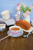 çay ve pasta — Stok fotoğraf