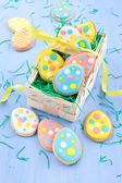Colorful ccokies for easter — Stockfoto