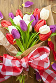 Colorful tulips for easter — Стоковое фото