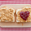 Stock Photo: Brioche with peanutbutter