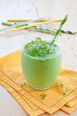 Green smoothie with herbs — Stock Photo
