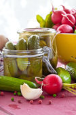 Pickling gherkins — Stock Photo