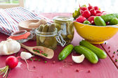 Pickling gherkins — Stock Photo
