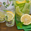 Lemonade with cucumber and lemons — Stock Photo #46407245