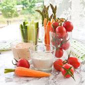 Fresh vegetable sticks — Stock Photo