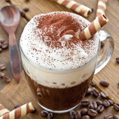 Cup of coffee with creamy milk foam — Foto Stock