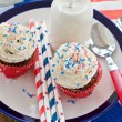 Little cupcakes with frosting — Stock Photo #48625801