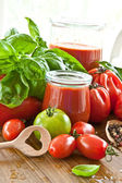 Homemade tomato sauce — Stock Photo