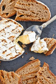 Grilled camembert with bread  — Stock Photo
